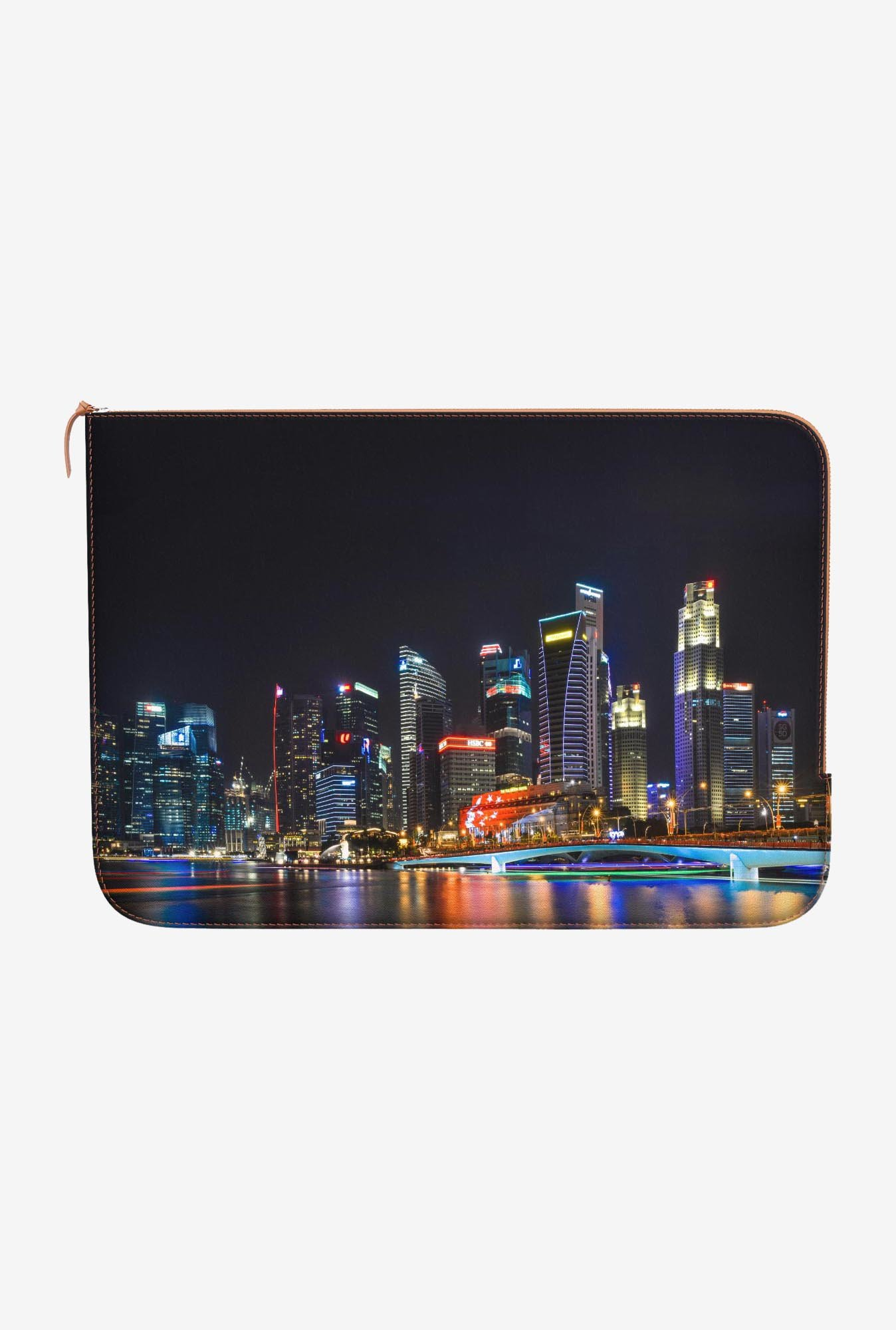 "DailyObjects Skyline Macbook Pro 15"" Zippered Sleeve"