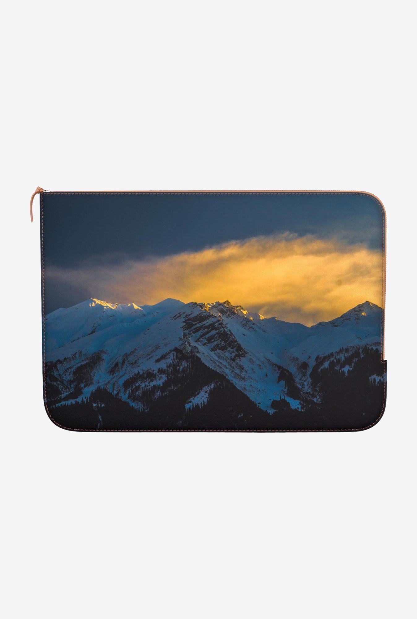 "DailyObjects Snowy Peaks Macbook Pro 15"" Zippered Sleeve"