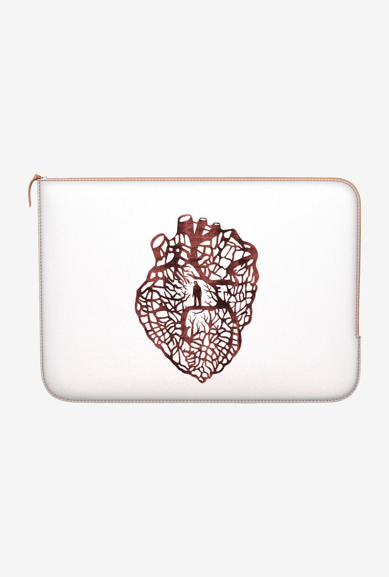 "DailyObjects Maze Heart Macbook Pro 13"" Zippered Sleeve"