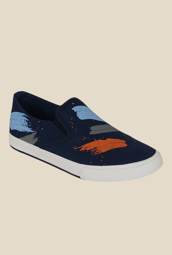 Kielz Navy & Orange Plimsolls
