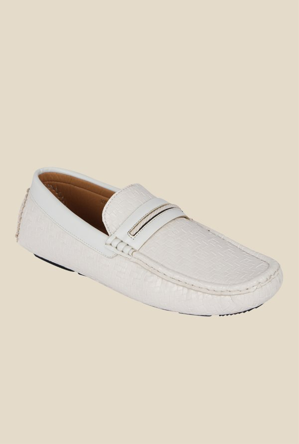 Kielz White Casual Loafers