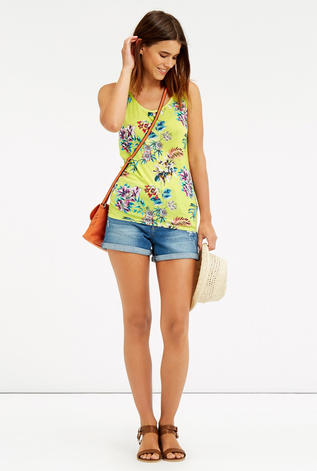 Oasis Yellow Floral Print Top