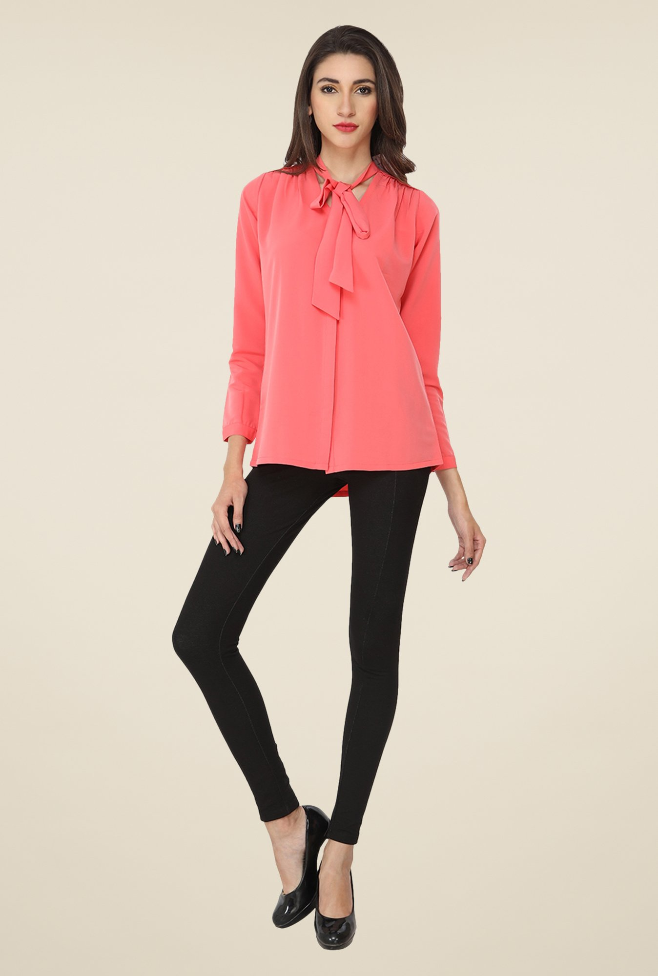 Soie Coral Solid Top