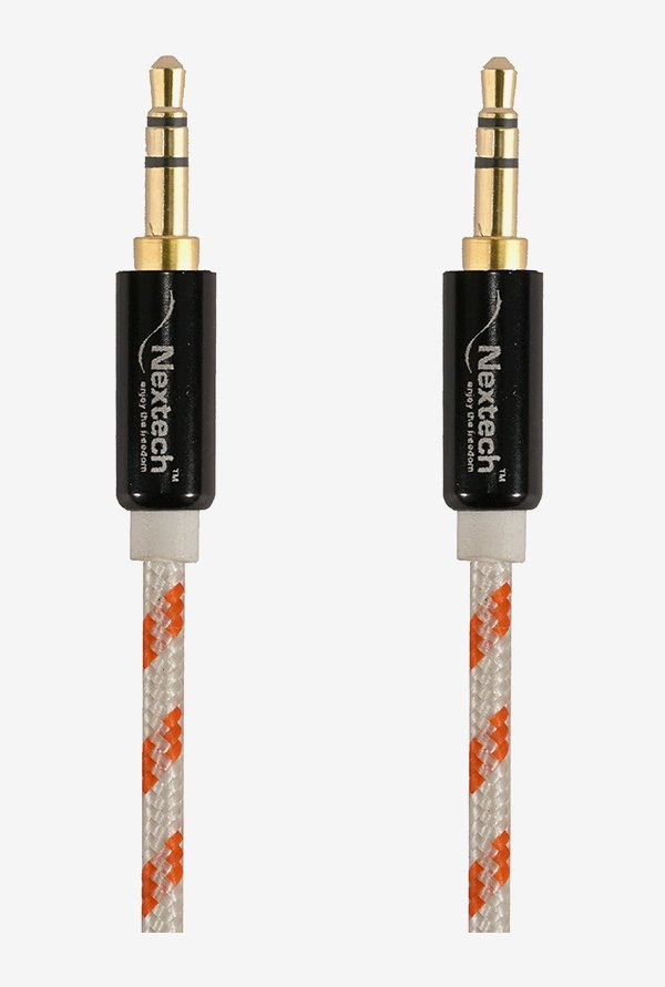 Nextech NC12OR Braided Stereo Aux Cable (Multi)