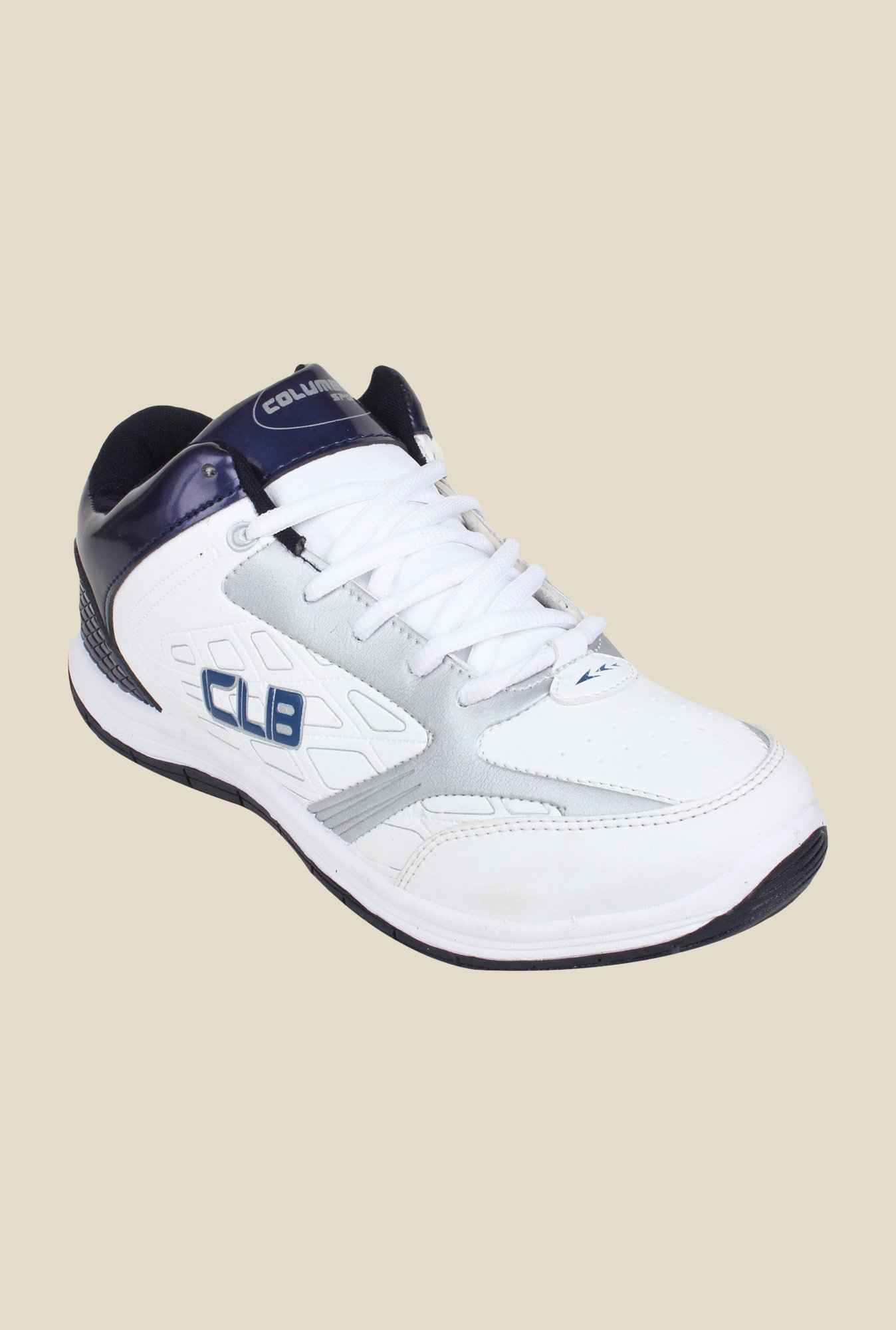 Columbus FM-13 White & Navy Running Shoes