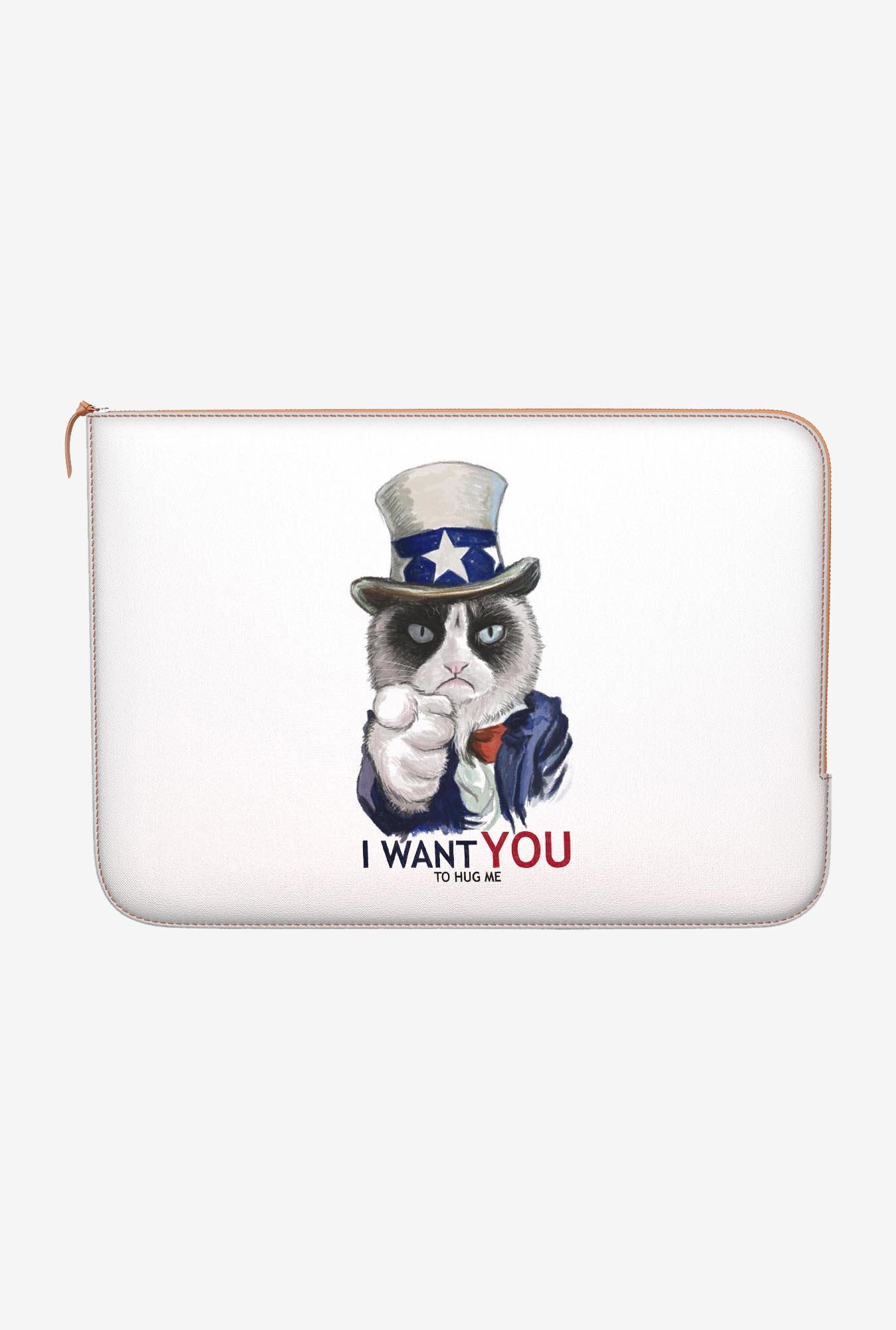 "DailyObjects Uncle Sam Cat Macbook Air 11"" Zippered Sleeve"