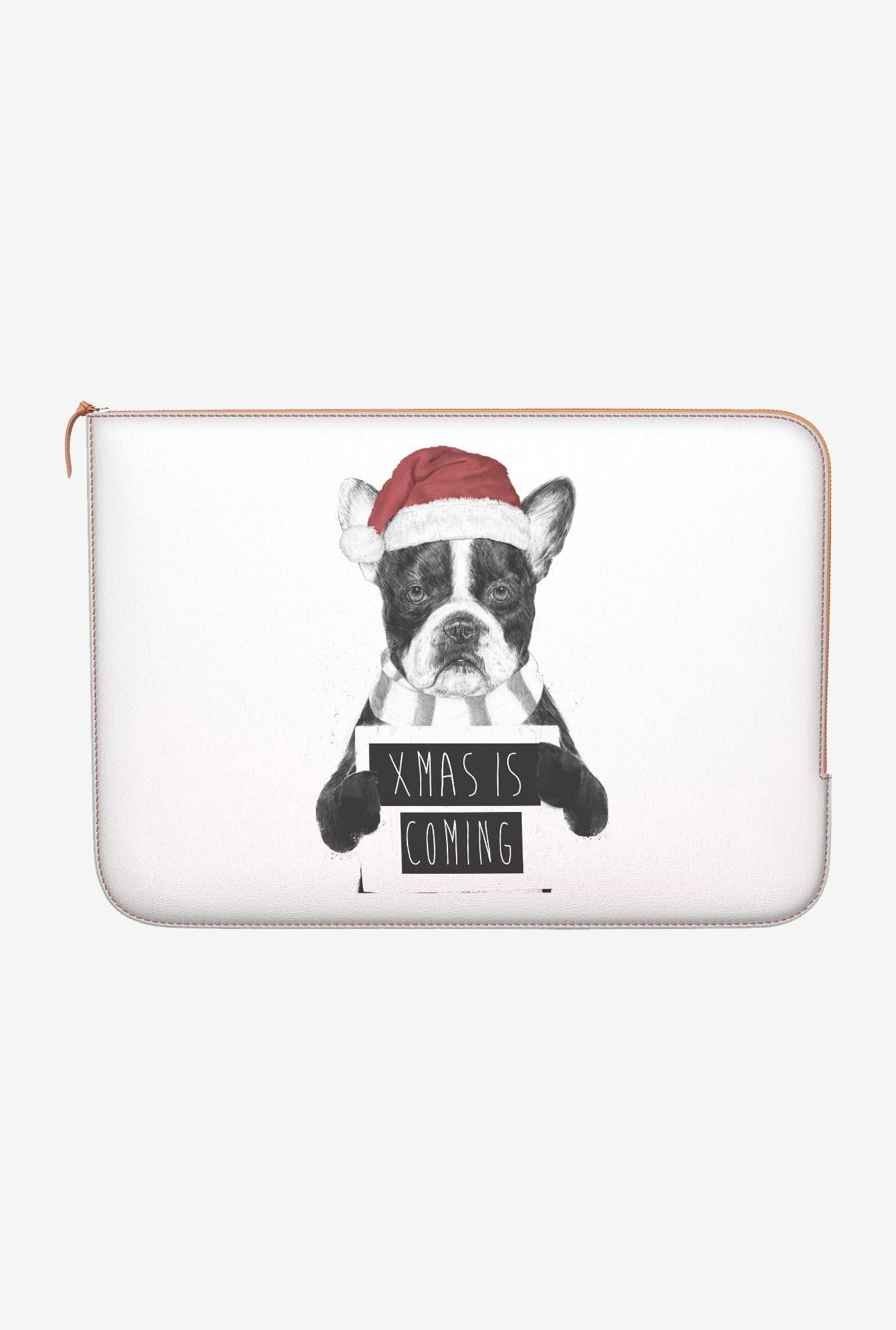 "DailyObjects Xmas Is Coming Macbook Air 11"" Zippered Sleeve"