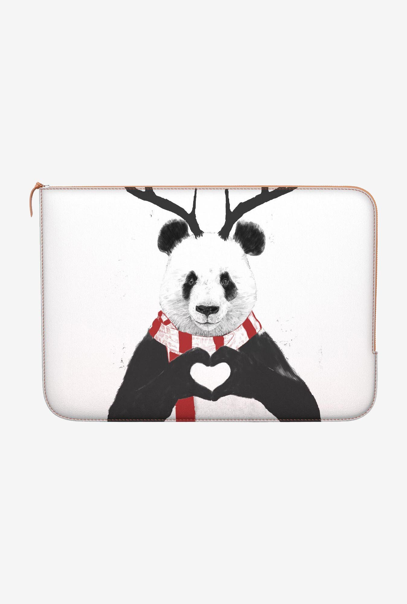 "DailyObjects Xmas Panda Macbook 12"" Zippered Sleeve"