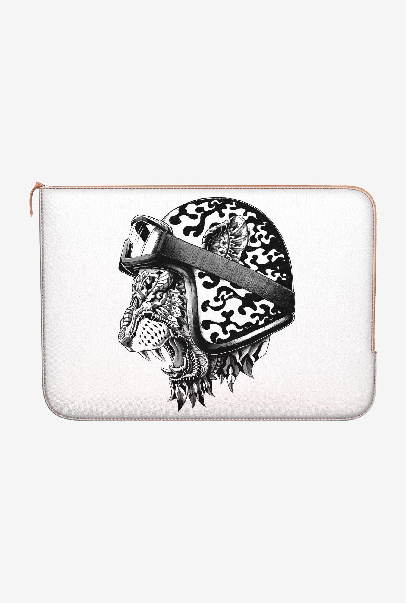 "DailyObjects Tiger Helm Macbook Air 13"" Zippered Sleeve"
