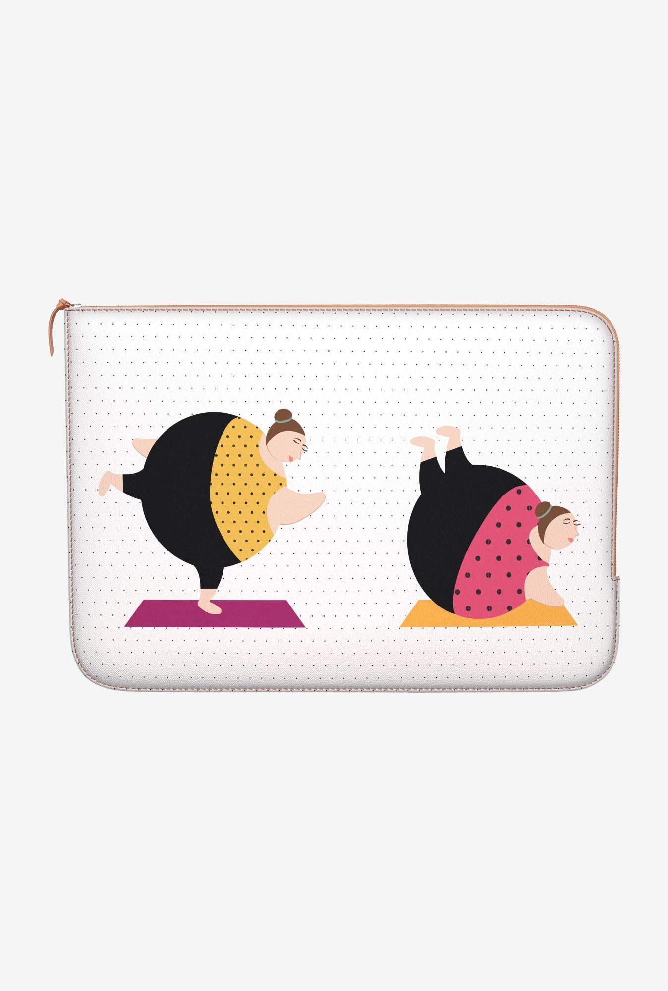 "DailyObjects Yoga Girls Macbook 12"" Zippered Sleeve"