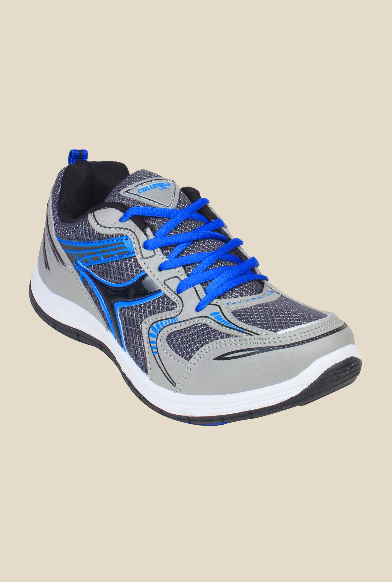 Columbus FM-1 Grey & Blue Running Shoes