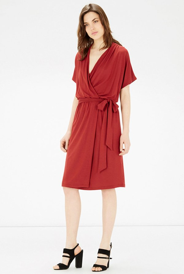 Warehouse Rust Solid Dress