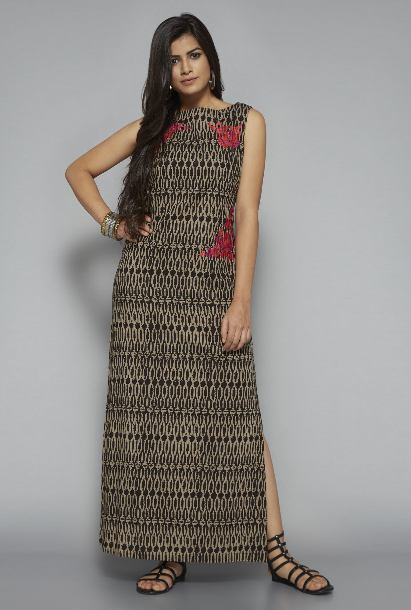 Bombay Paisley by Westside Beige Printed Dress