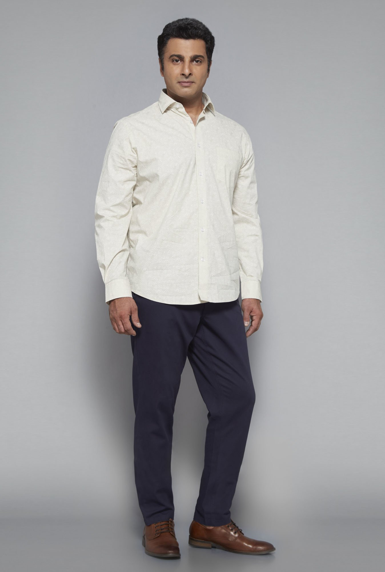 Oak & Keel by Westside Beige Printed Shirt