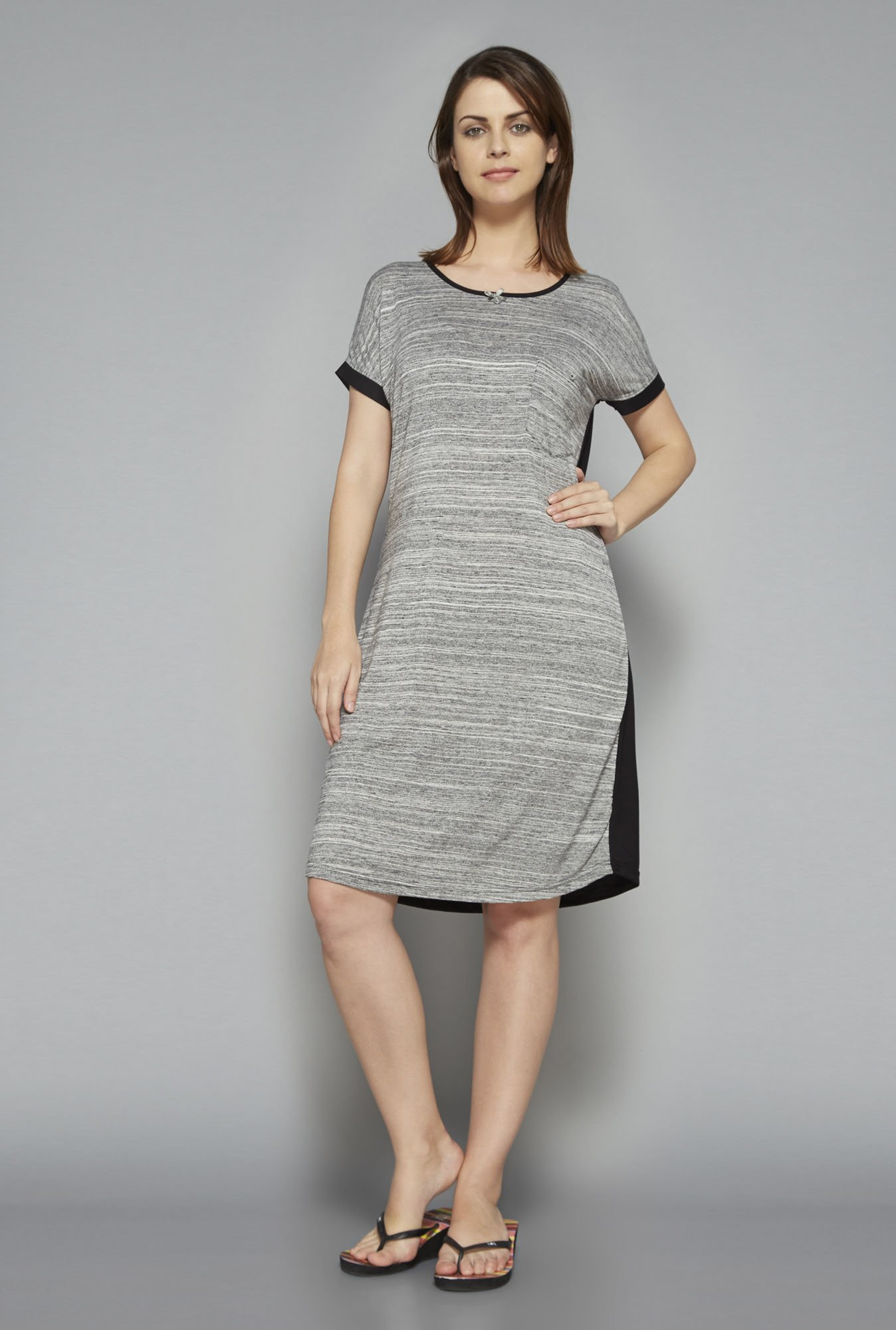 Intima by Westside Grey Textured Nightdress
