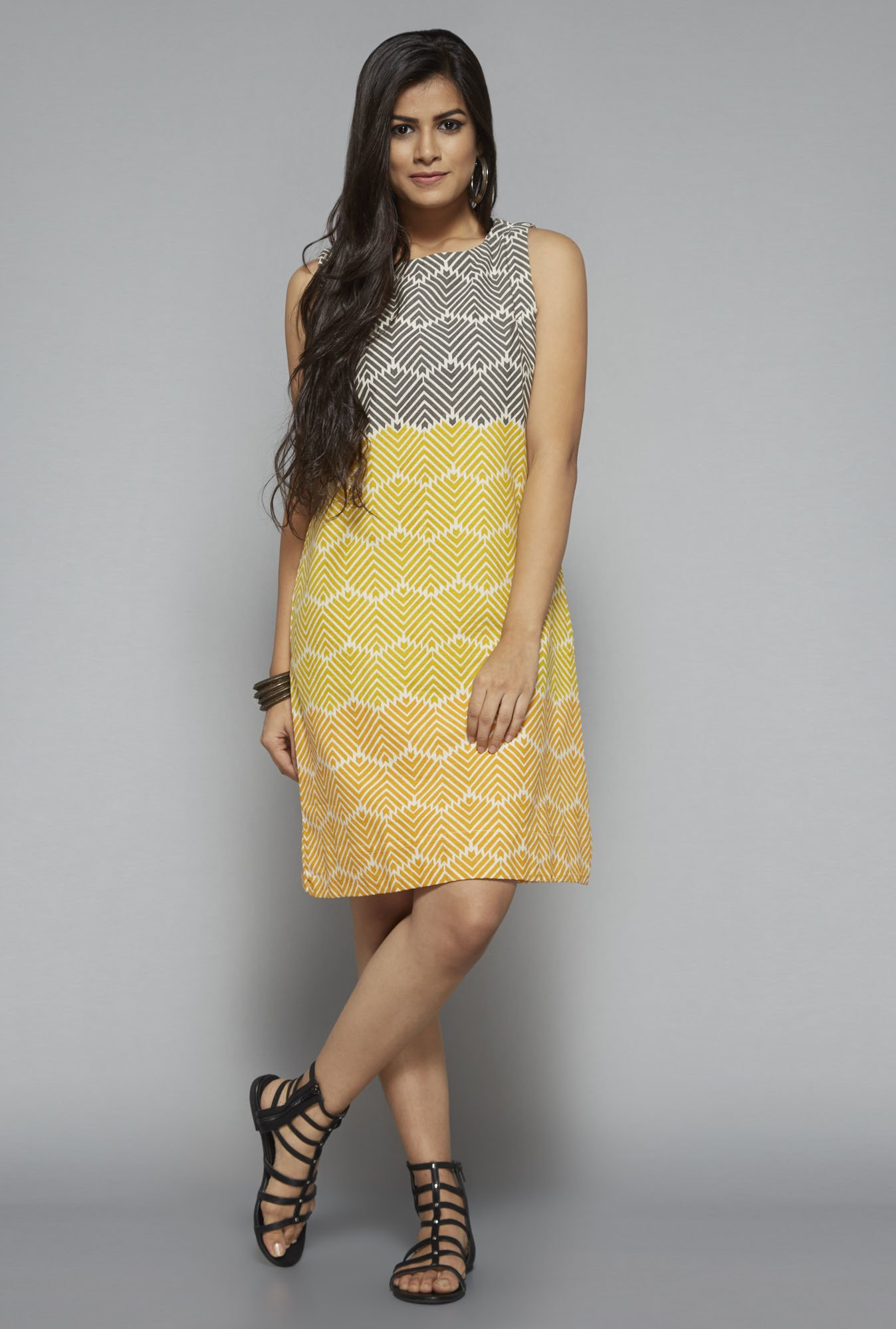 buy bombay paisley by westside yellow printed dress for