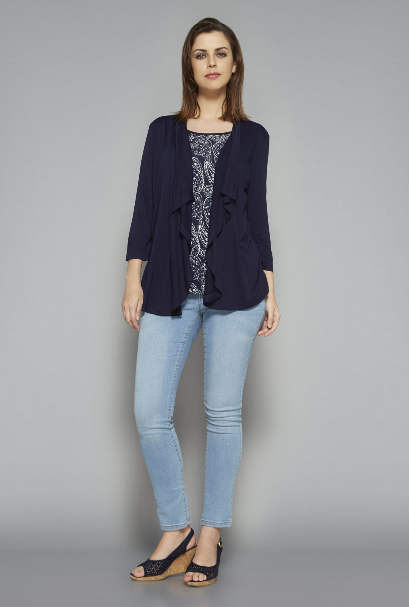 LOV by Westside Navy Zola Top