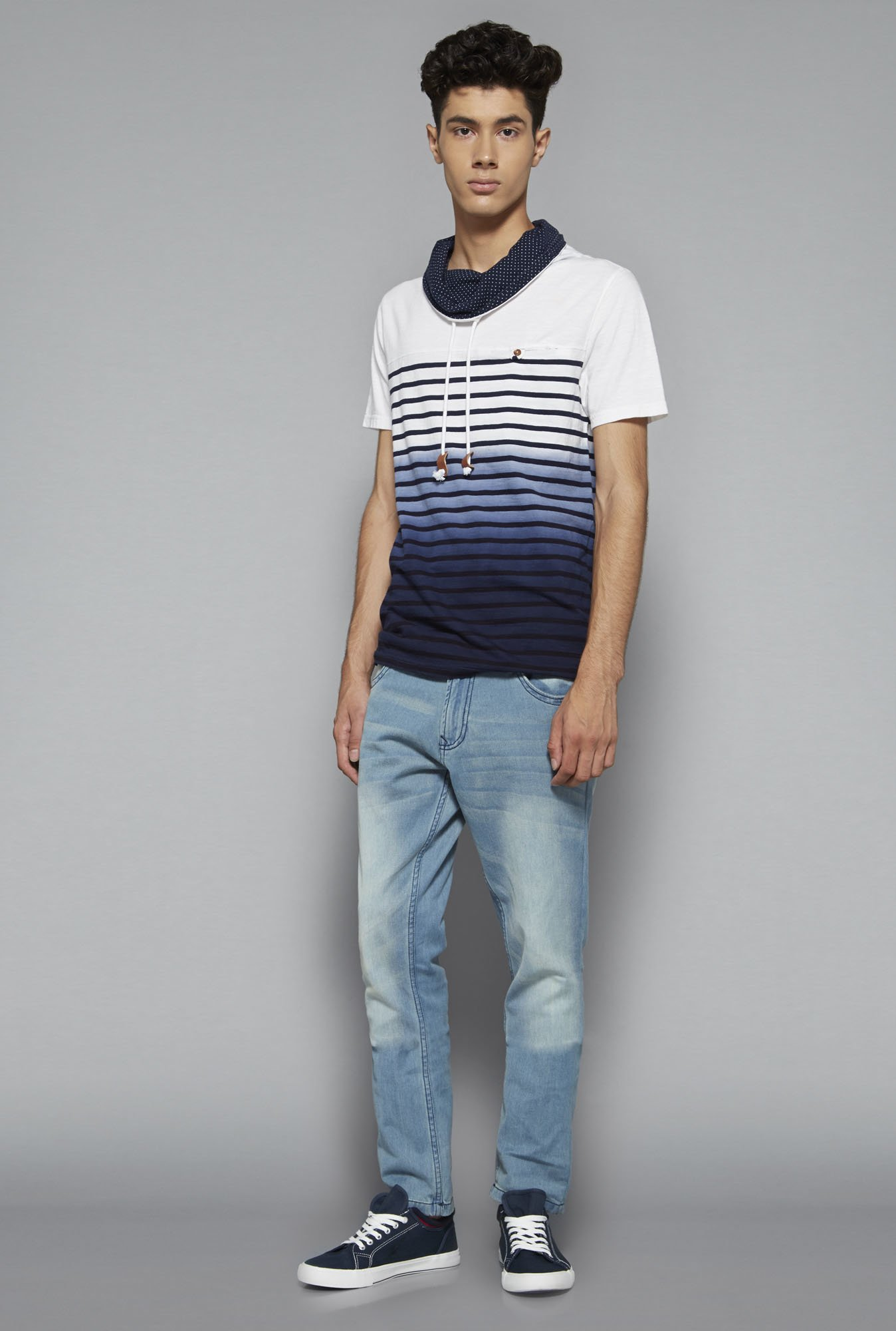 Nuon by Westside Navy Slim Fit T Shirt