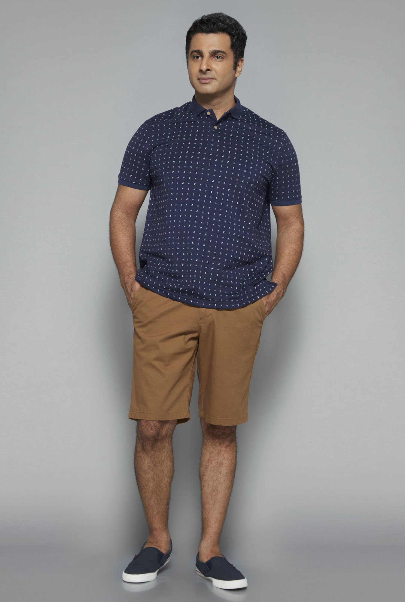 Oak & Keel by Westside Khaki Solid Shorts