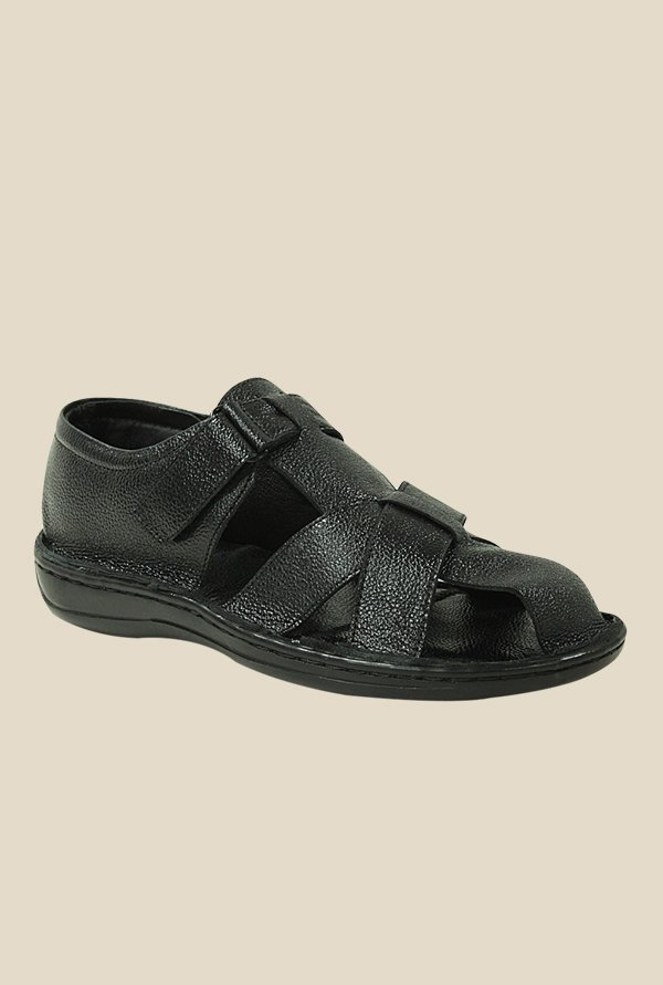 Get Glamr Steven Black Fisherman Sandals