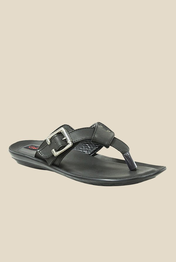 Get Glamr Jon Black Slide Sandals
