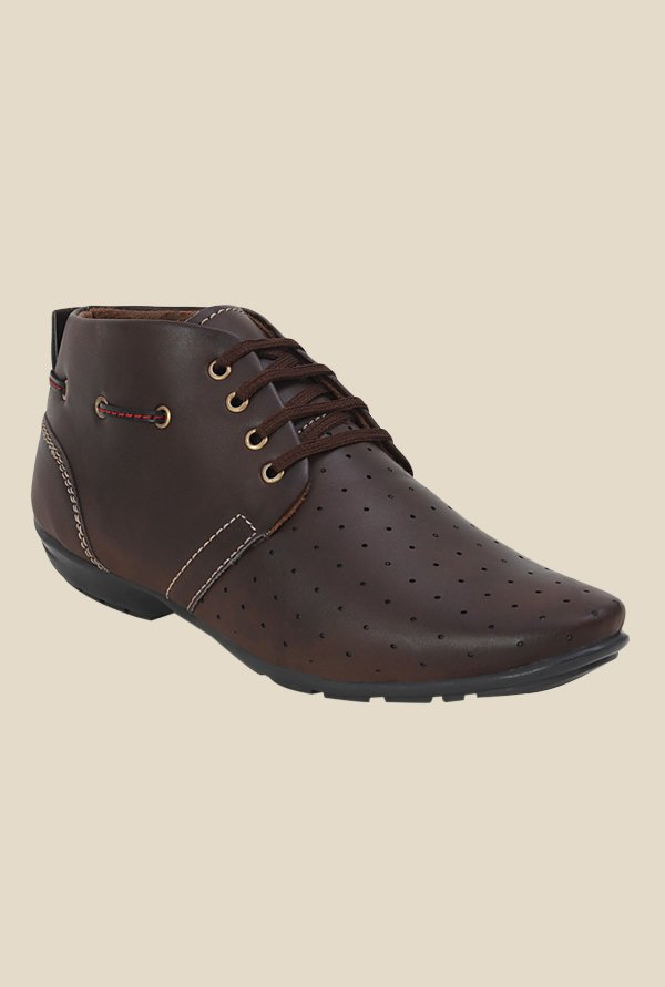 Get Glamr Billy Brown Derby Shoes