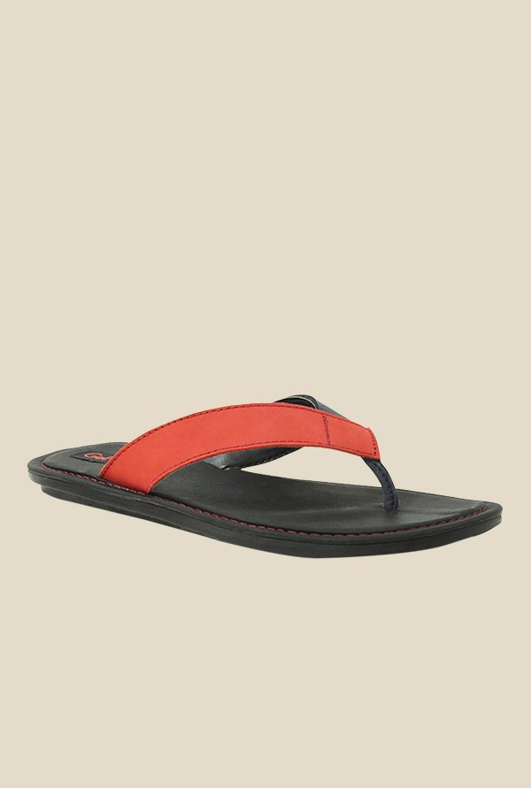 Get Glamr Werner Orange & Black Slide Flip Flops