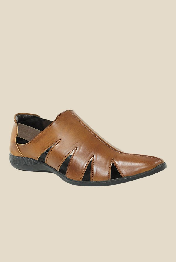 Get Glamr Piolo Brown Fisherman Sandals