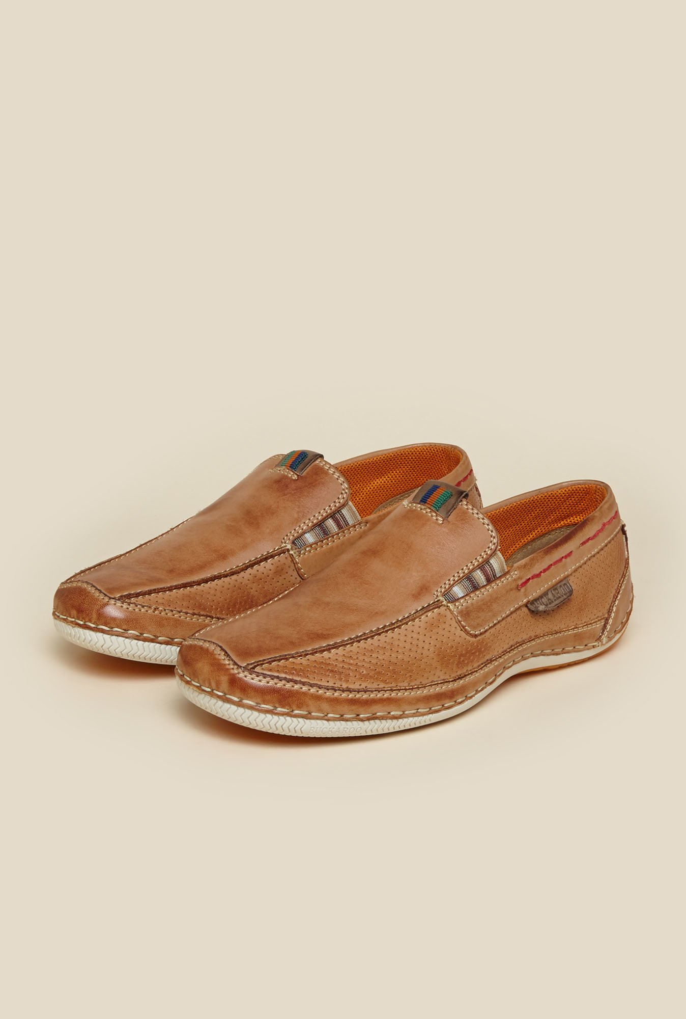 Buckaroo Tan Brown Loafers