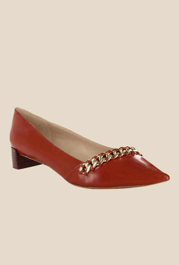Nine West Dark Orange Pumps