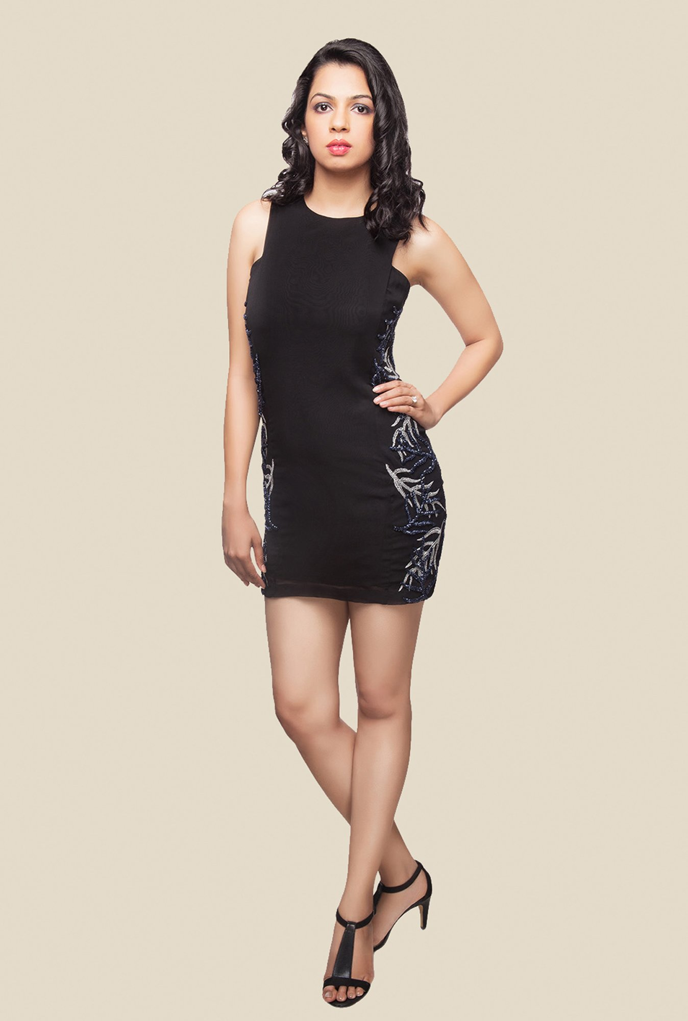 Ether Black Isabella Embellished Dress