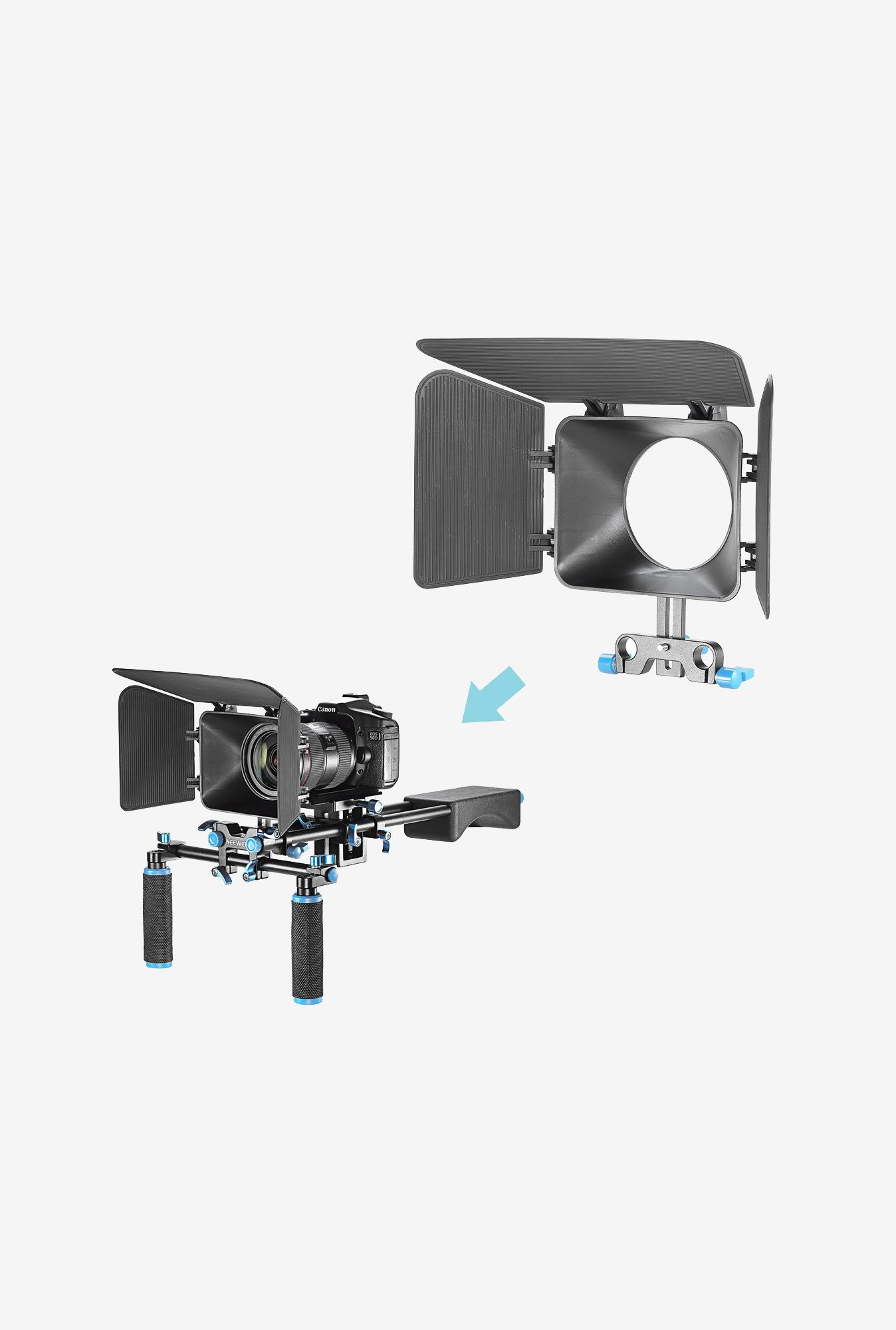 Neewer Matte Box for Follow Focus Rig System (Black)