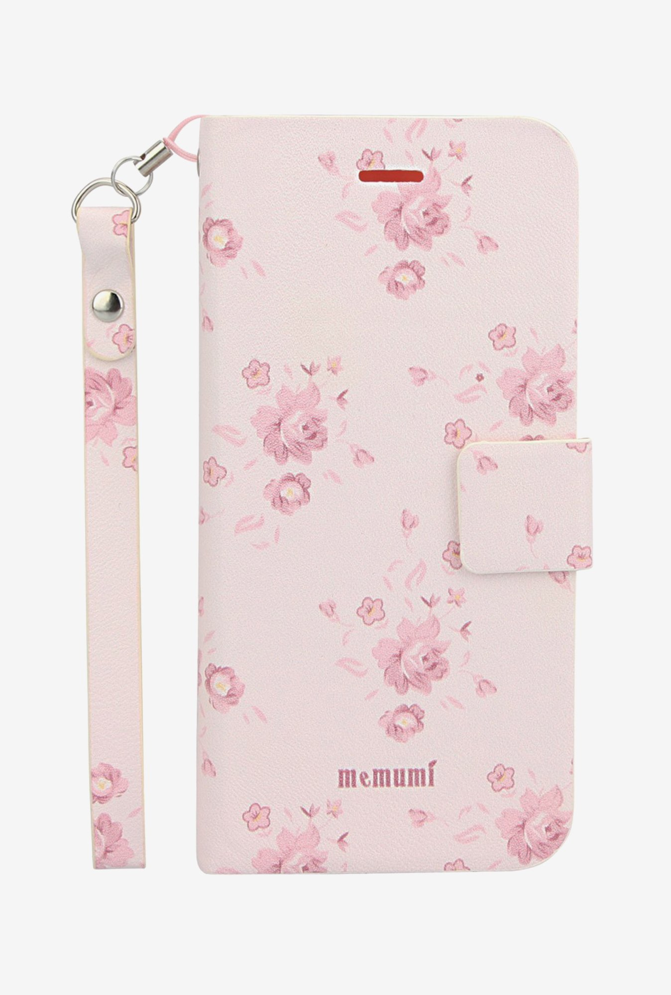 Memumi Flower Printed Flip Cover for iPhone 5 (White)