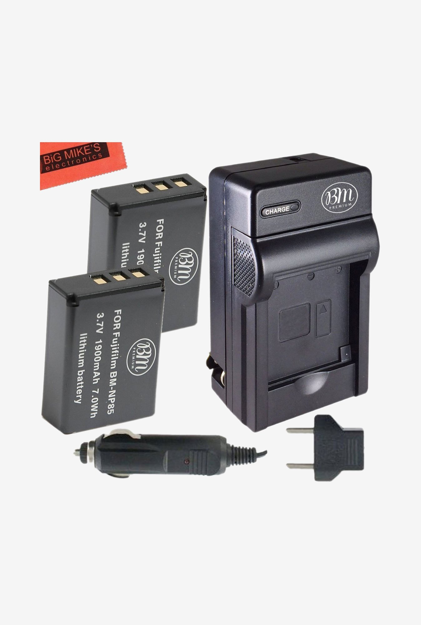 Big Mike's Np-85 1900 mAh Battery & Charger Kit For Fujifilm