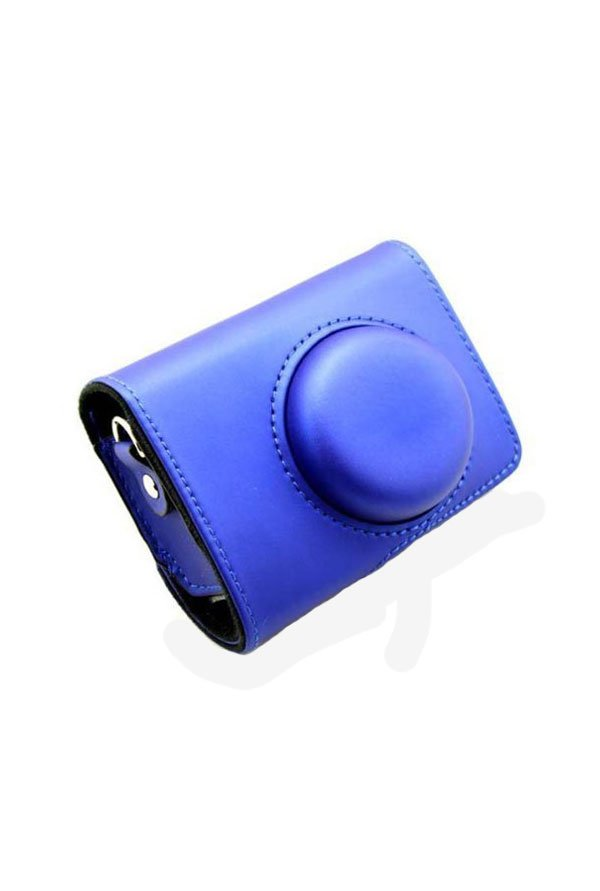 MegaGear Leather Camera Case for Casio Exilim (Blue)