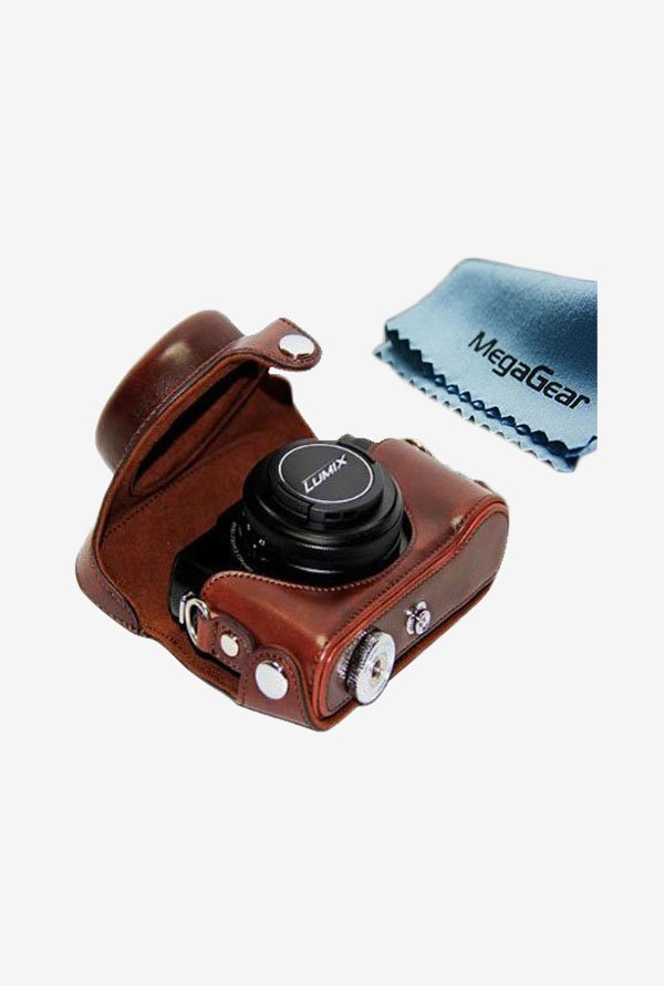 MegaGear Leather Camera Case for Panasonic Lumix Lx7 (Brown)