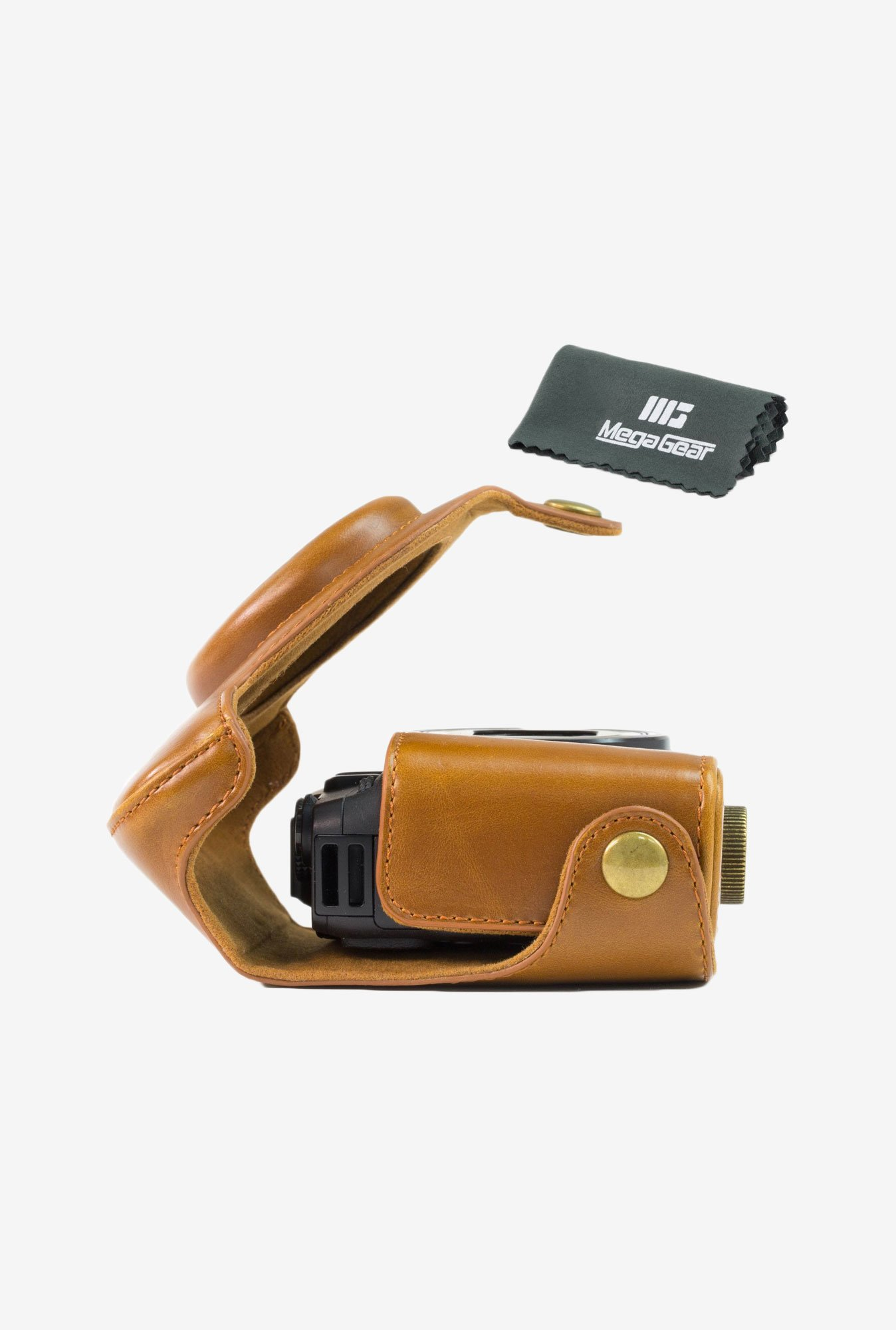 MegaGear Leather Camera Case for Canon PowerShot G16 (Brown)