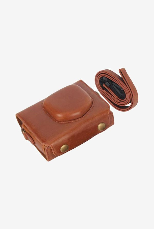 MegaGear Fitted Leather Camera Case for Canon SX220 (Brown)