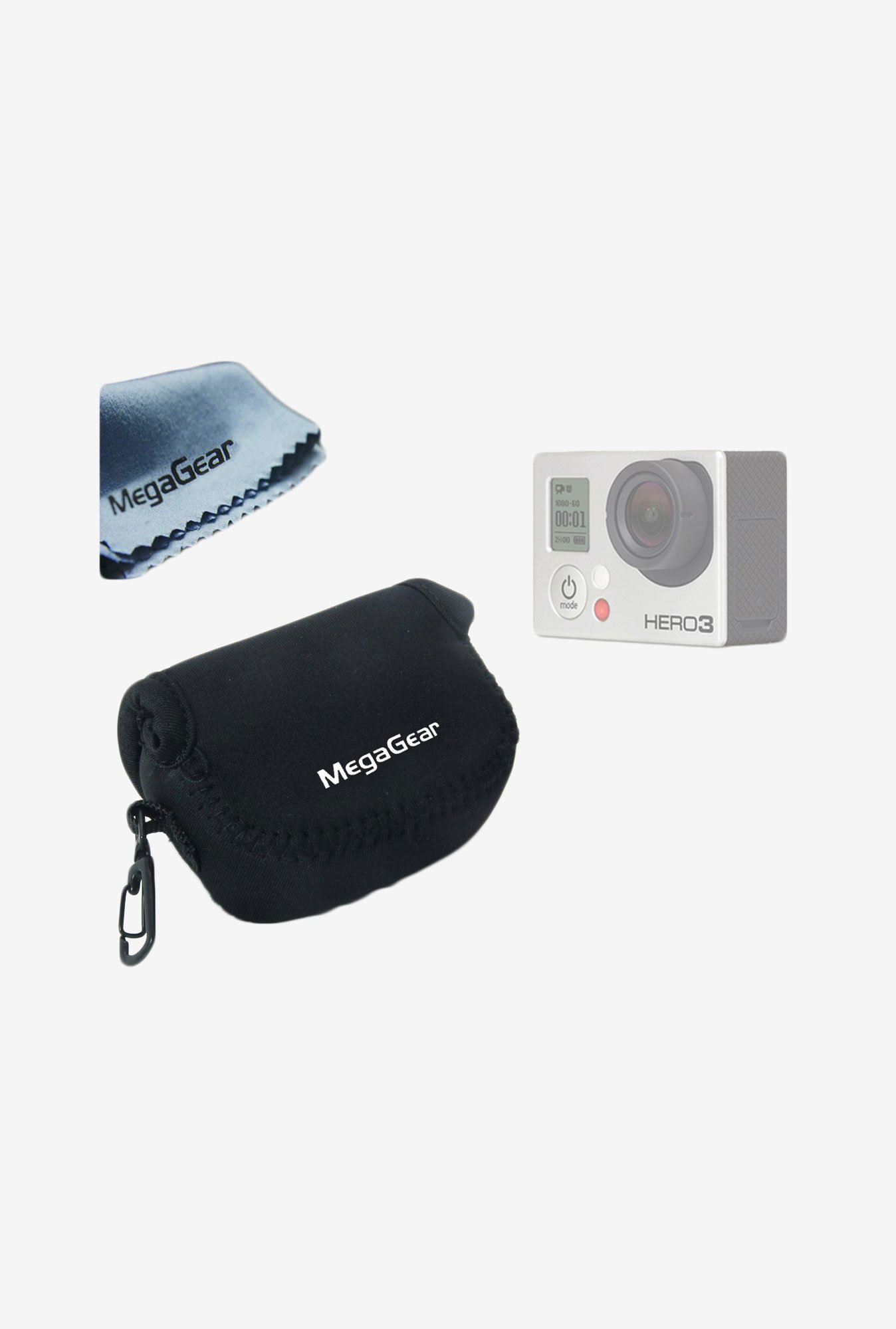 MegaGear Neoprene Camera Case for GoPro (Black)
