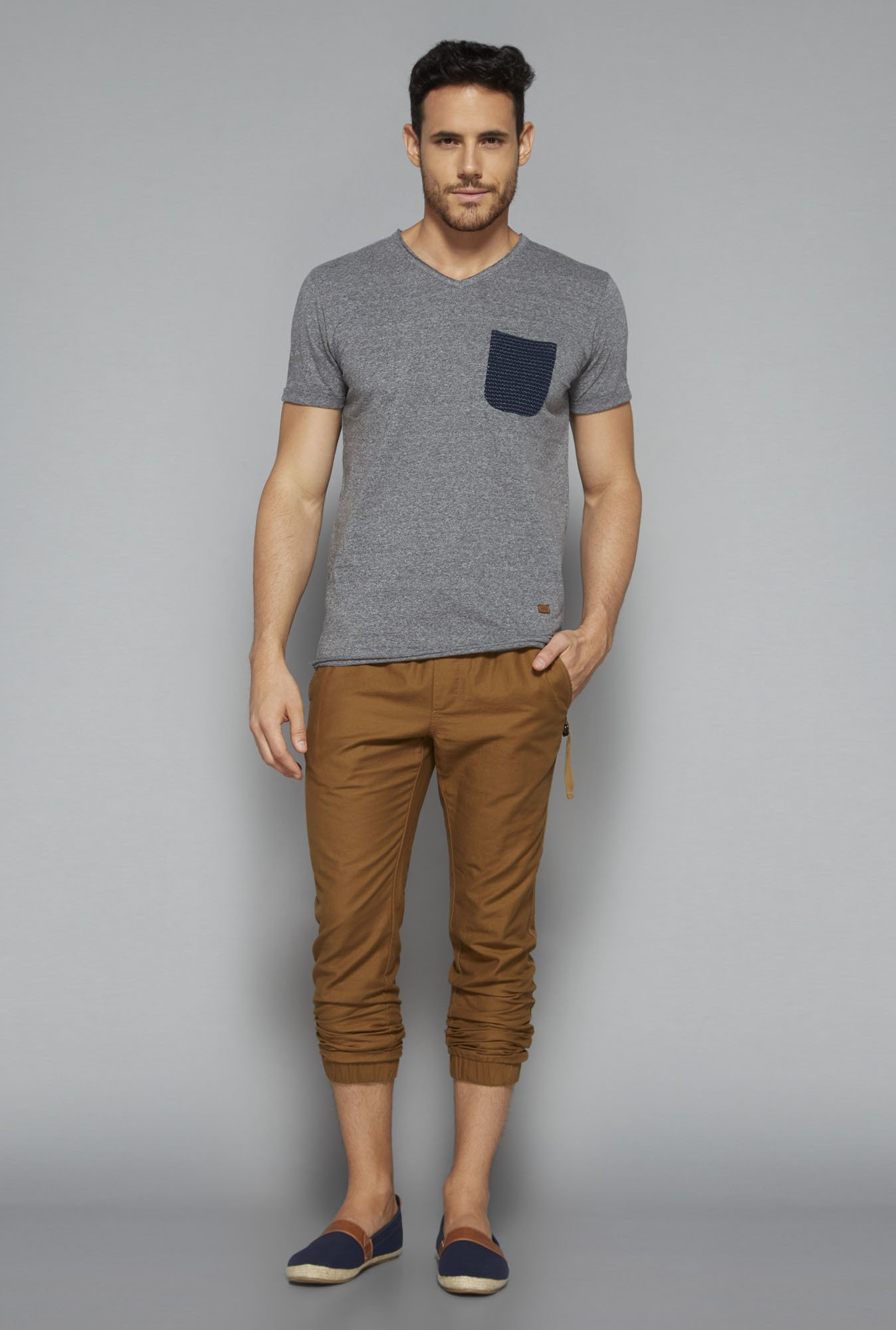 ETA by Westside Grey Slim Fit T Shirt