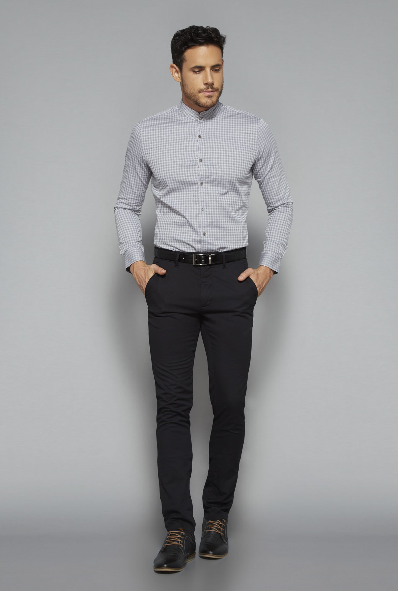 Ascot by Westside Grey Slim Fit Shirt