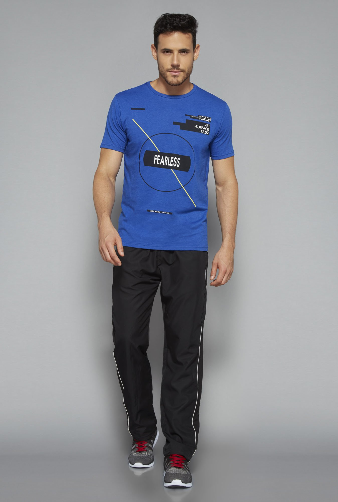 Westsport by Westside Blue Slim Fit T Shirt