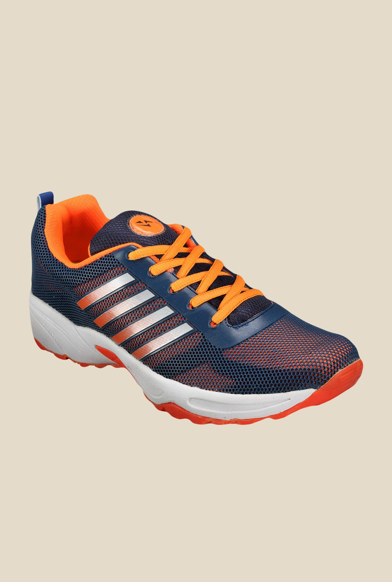 Yepme Peyton Navy & Orange Running Shoes