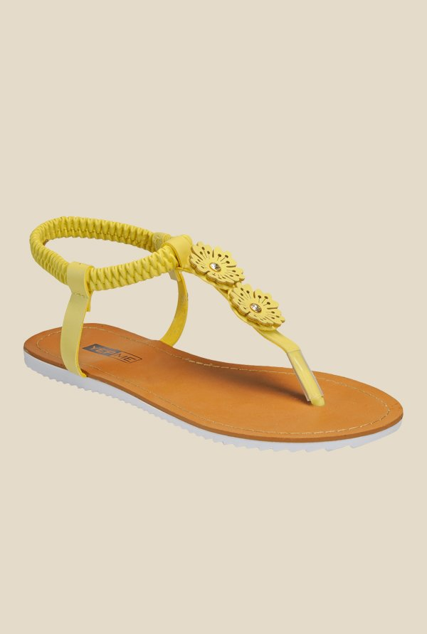 Yepme Yellow Sling Back Sandals