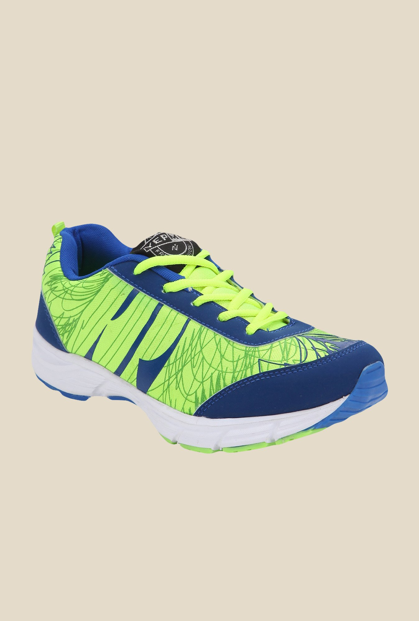 Yepme Premium Green & Blue Running Shoes
