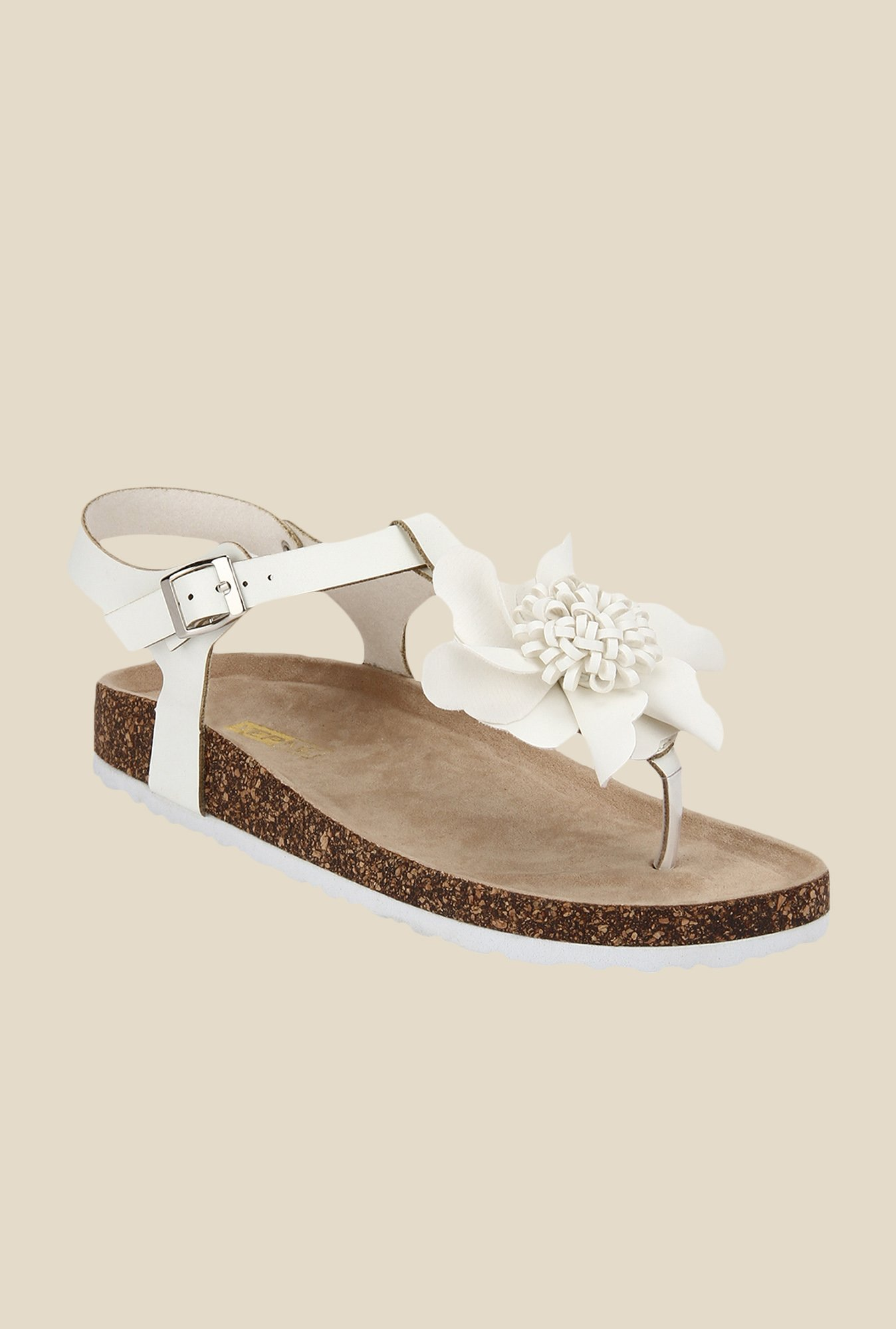 Yepme White Ankle Strap Sandals
