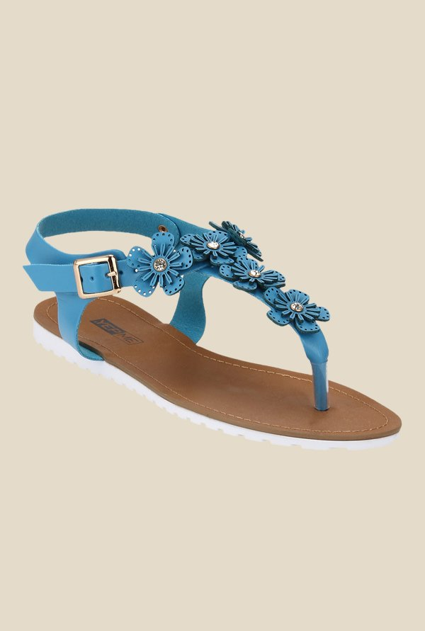 Yepme Blue Ankle Strap Sandals