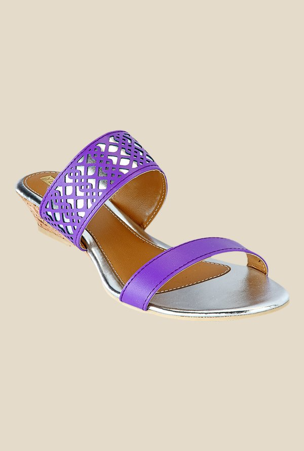 Yepme Purple Wedge Heeled Sandals