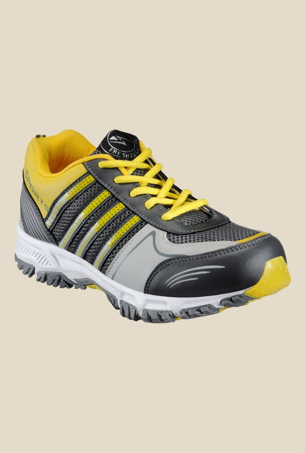 Yepme Premium Black & Yellow Running Shoes