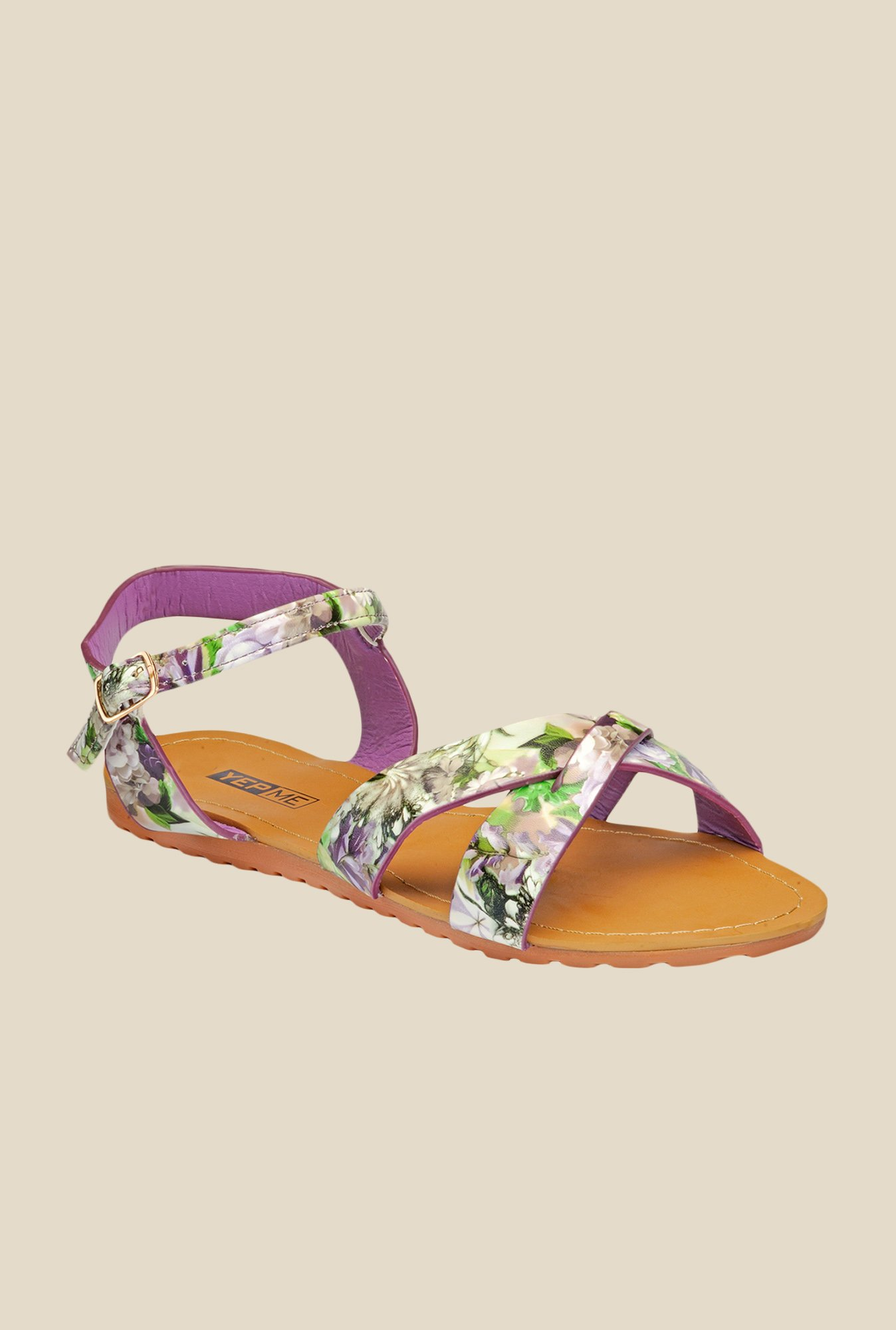Yepme Multicoloured Ankle Strap Sandals
